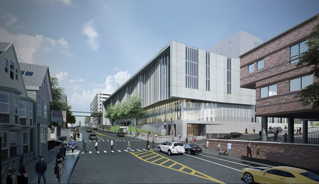 The third phase of Maine Medical Center's expansion calls for a 265,000-square-foot, six-story medical building at the current location of the hospital's Gilman Street staff parking garage.