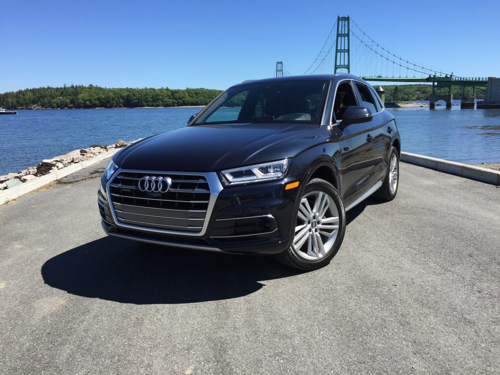 The Q5 fits neatly into Audi's three crossover offerings, between the Q3 and the Q5. (Photo by Tim Plouff. Location: Deer Isle Bridge.)