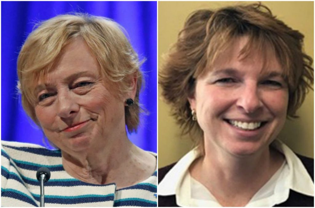 Gov.-elect Janet Mills, left, and Kirsten Figueroa, Mills' choice to be commissioner of the Department of Administrative and Financial Services.