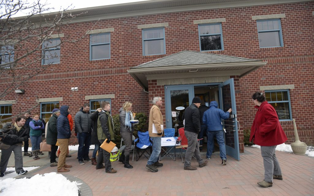 Investors lined up outside FAME's office to apply for the Maine Seed Capital Tax Credit program on Wednesday.