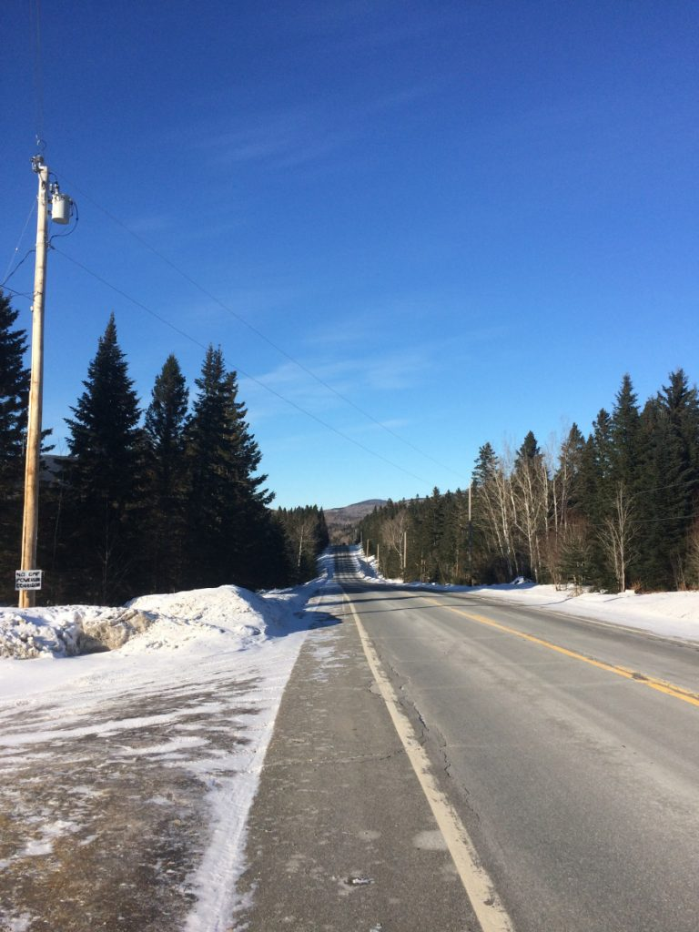 A Central Maine Power Co. line runs across U.S. Route 201 in Jackman. Residents filed a complaint against the utility with the state's Public Utilities Commission in December over what they say are increasingly longer and more frequent power outages across town.