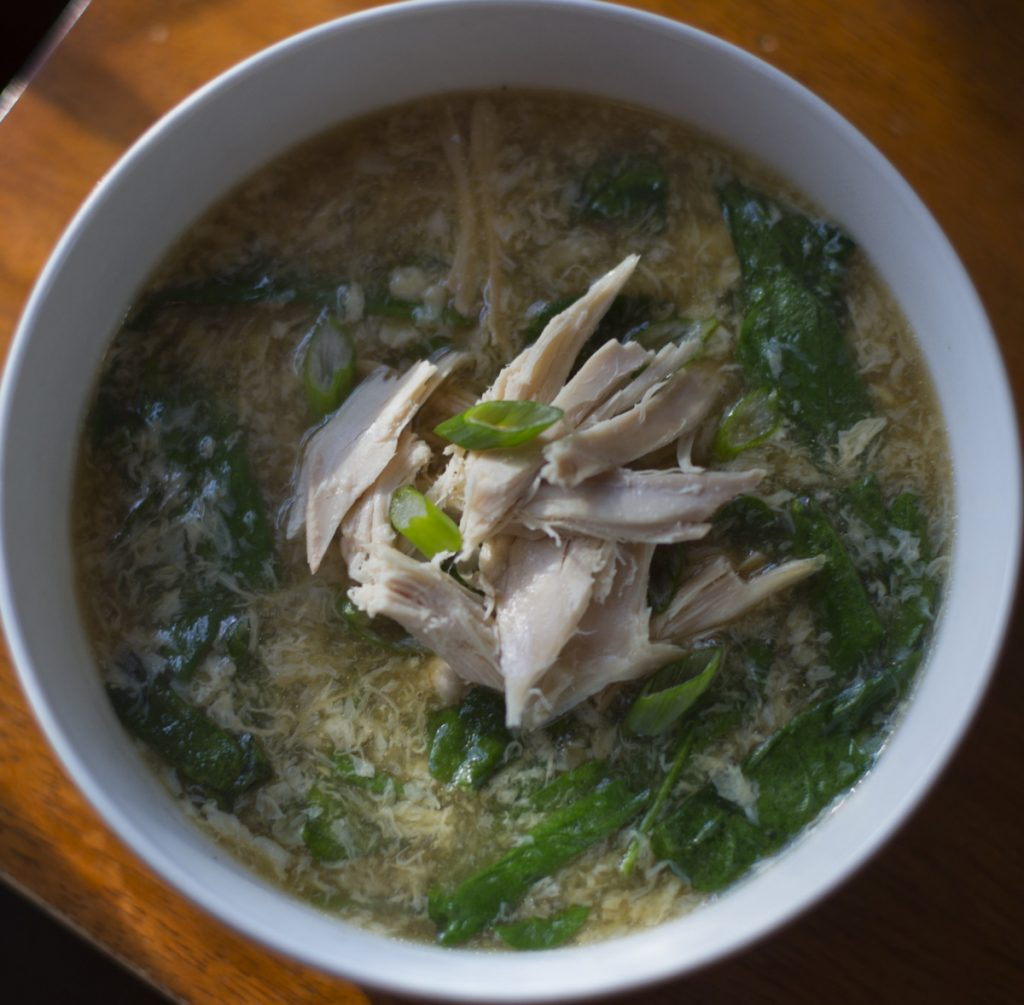Chicken and egg drop soup.