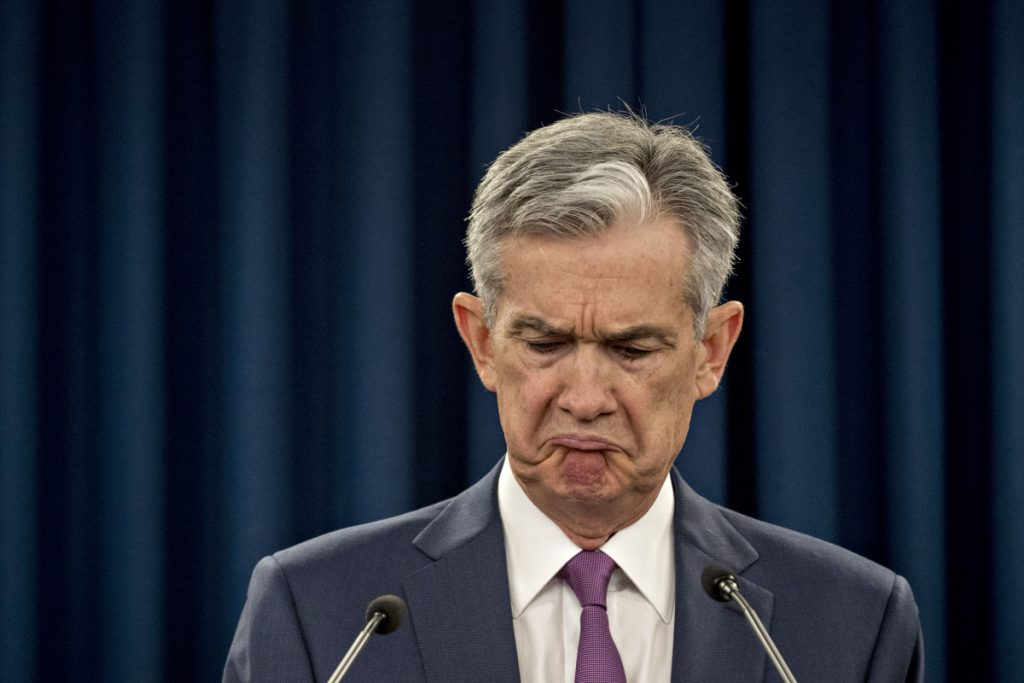 Federal Reserve Chaiman Jerome Powell during a news conference in June.