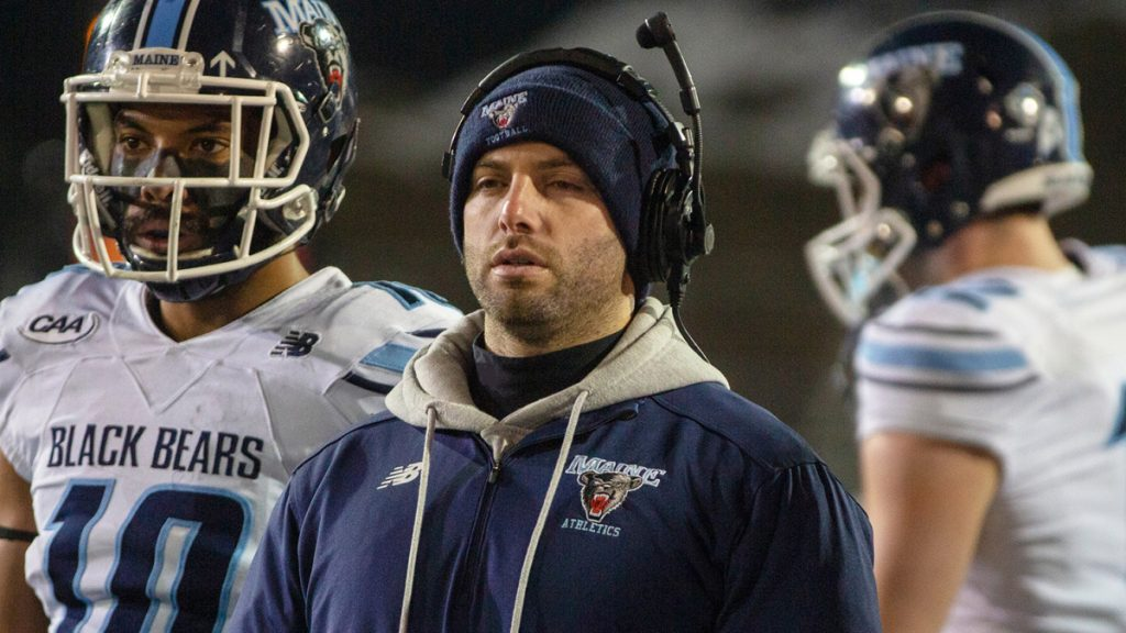 Andrew Dresner, who was named UMaine's offensive coordinator Friday, this past season coached the wide receivers – a strength of the team.