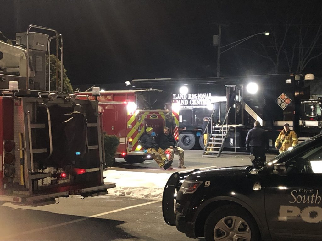 A mobile command center was set up off Route 1 Friday during a  2½-hour standoff.