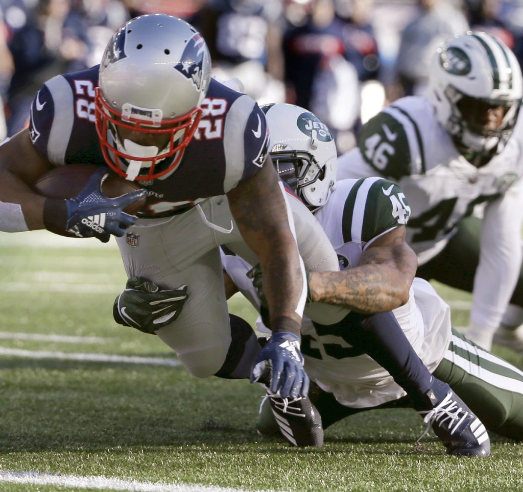 James White and the New England Patriots have a bye in the first round of the playoffs and will take the opportunity to rest and to scout.