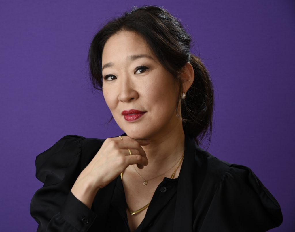 Sandra Oh will co-host this year's Golden Globe Awards show telecast Sunday on NBC.