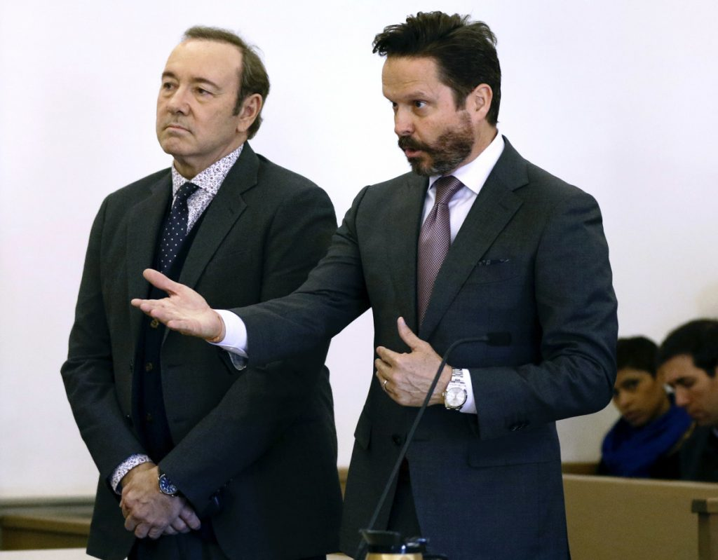 Kevin Spacey appears before a judge to face charges of sexual assault