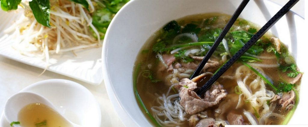 """Pho (pronounced """"fuh"""") is a type of Vietnamese soup."""