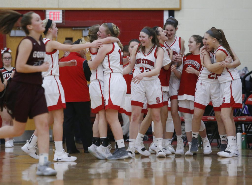There was plenty to celebrate for Scarborough, including a second victory over Gorham this season and a 9-1 record in Class AA South.