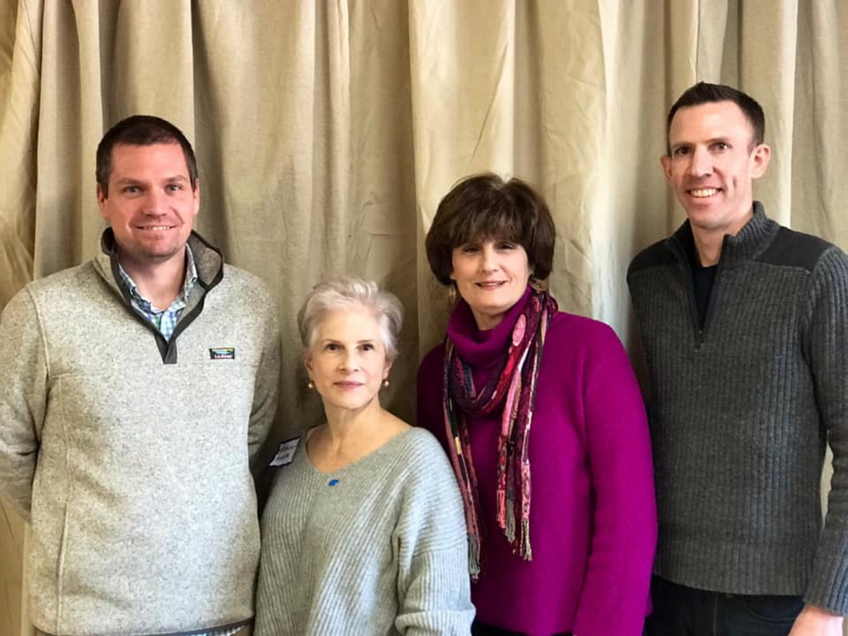 From left to right: Erik Gundersen, vice chair; Kathleen Marra, chair; outgoing Vice Chair Peggy Schaffer and outgoing Chair Phil Bartlett.