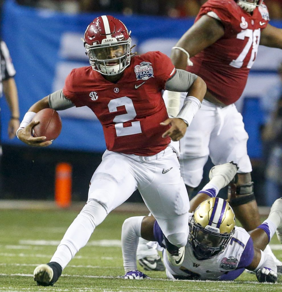 Quarterback Jalen Hurts was a two-year starter who led Alabama to a pair of national championship games, but then lost his starting job to start the 2018 season. He will play for Oklahoma next season.