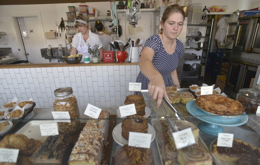 Tandem Bakery in Portland is best known for its treats and coffee, but also offers meat and veggie sandwiches.