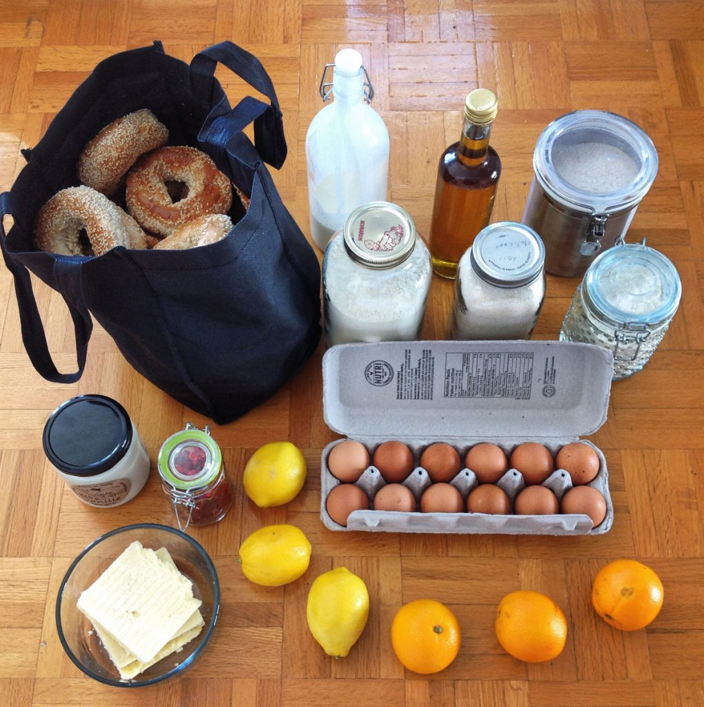The haul from one of Tippi Thole's Zero Waste shopping trips.