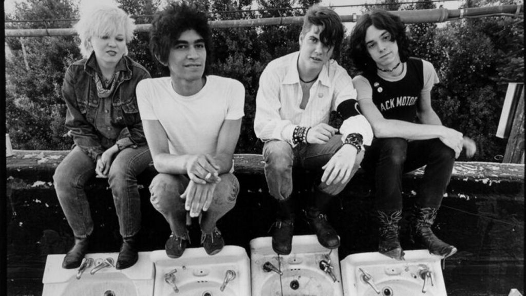 Germs, from left: Lorna Doom, Pat Smear, Darby Crash and Don Bolles. Doom, who played bass, was part of the posse of Hollywood punks who sparked a West Coast music movement in the 1970s.