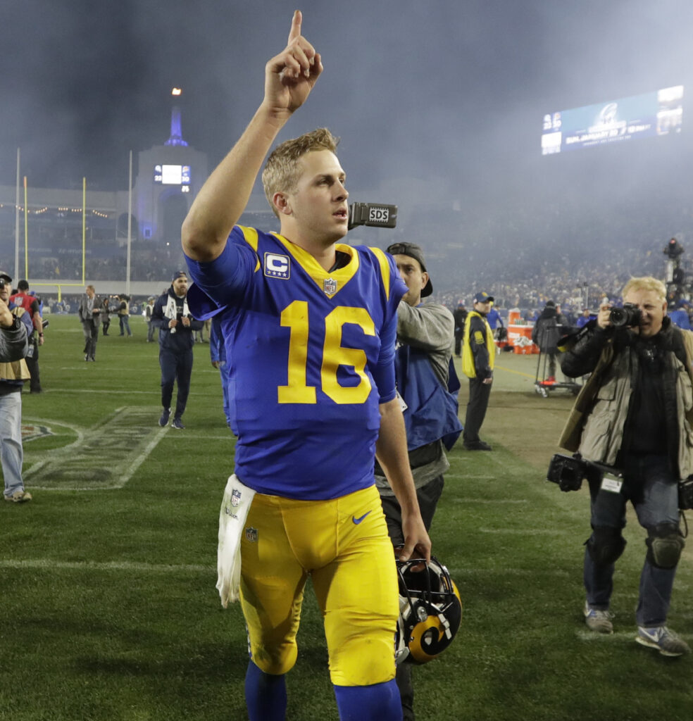 Los Angeles Rams quarterback Jared Goff entered the NFL as a No. 1 overall draft choice. That basically means he was hired to lead his team to the Super Bowl, which he's done. Now he has to beat Tom Brady, the quarterback he grew up watching, at his own game.