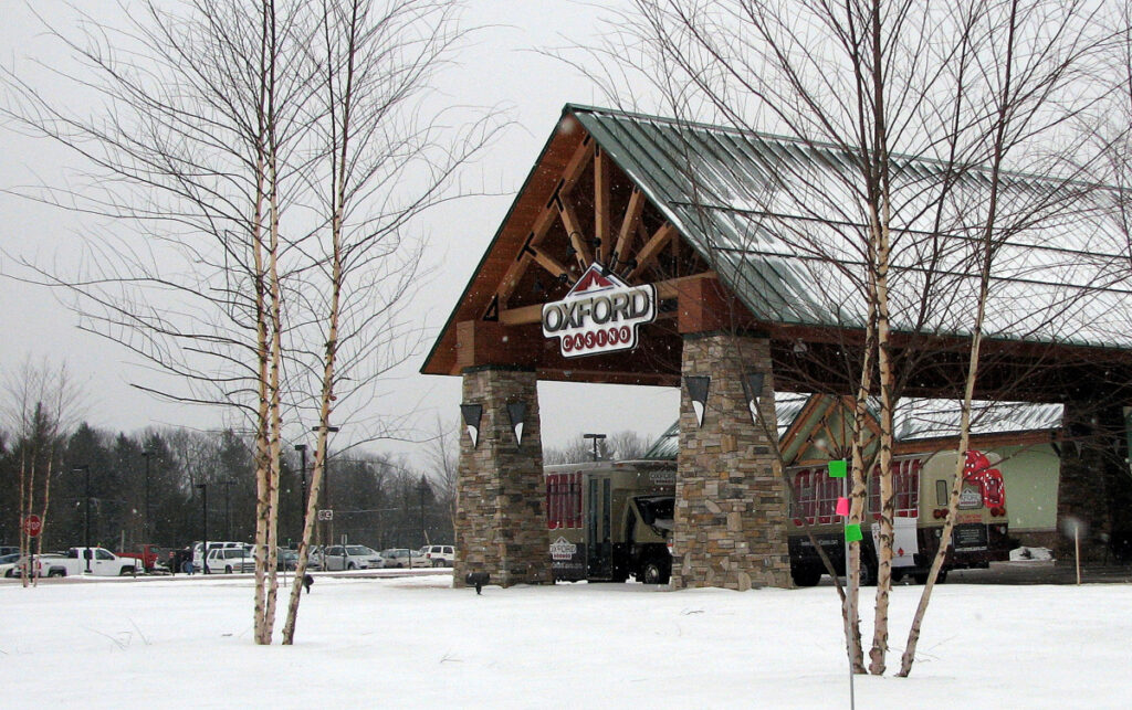 Oxford Casino on Route 26 had 968 slot machines and 28 table games in play during 2018.
