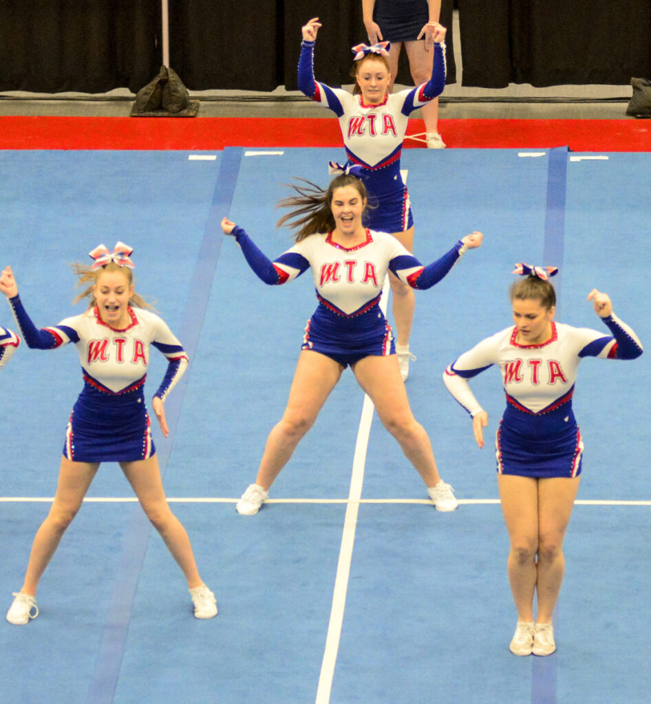 Mt. Ararat performs its routine during the Class A North regional at the Augusta Civic Center.