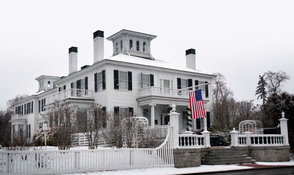 The governor's mansion is a place where the chief executive can make a grand gesture about what's possible.