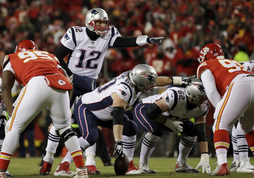 Here's the thing. Notice any grass stains on Tom Brady's jersey? Even a sliver of green? No? Well, that's because of the offensive line, which has guarded him well all season as well as opened holes for what's been an efficient running game.