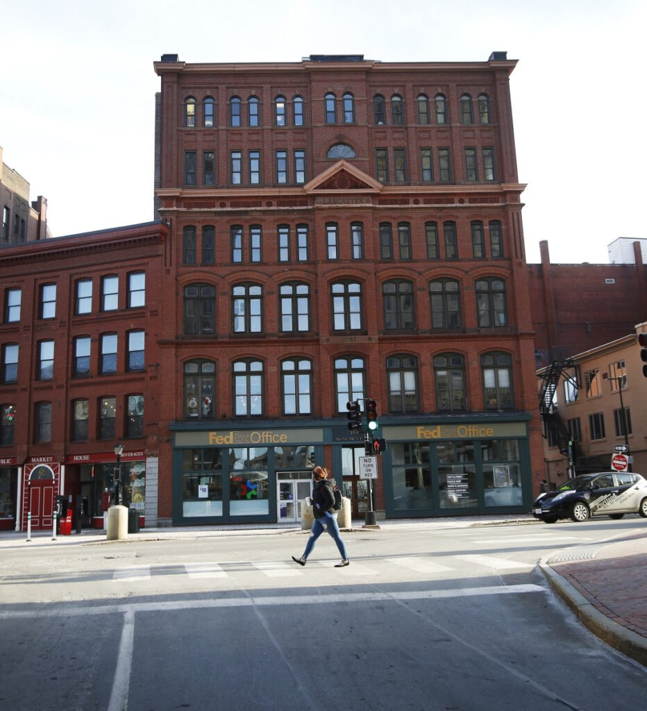 The third, fourth and fifth floors of the Lancaster Block building at 50 Monument Square in Portland would be turned into 21 studio and one- and two-bedroom apartments, according to plans submitted by PK Realty Management.