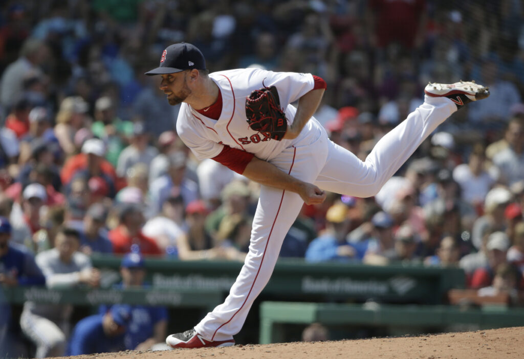 Tyler Thornburg hasn't been fully healthy since 2016, and in September needed a week to recover from each outing. But he said he's throwing at least five times a week now and hopes to earn a key spot in the Red Sox bullpen.