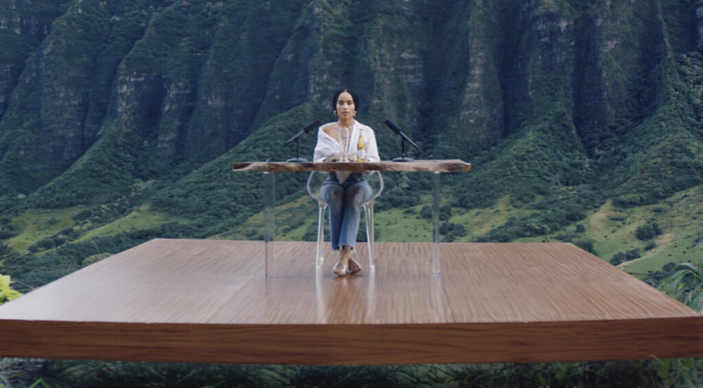 Michelob Ultra's 2019 Super Bowl spot features Zoe Kravitz. Celebrities are a safe bet to garner good will from viewers who aren't looking for a lecture. There's also been a retreat from more overtly political ads.
