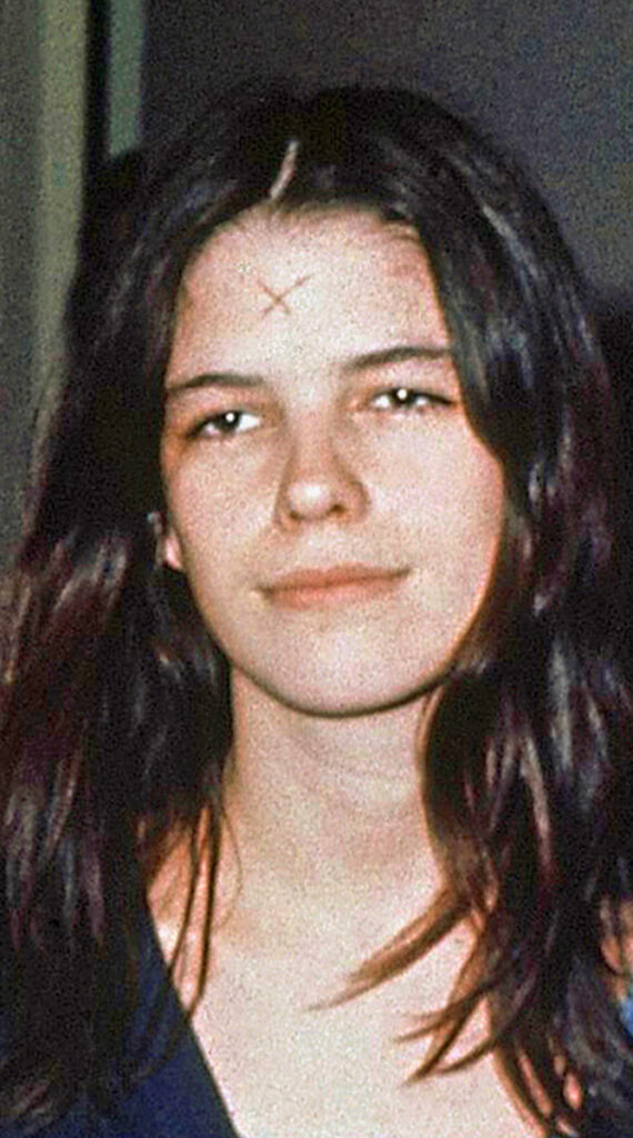 Leslie Van Houten in a Los Angeles lockup on March 29, 1971.