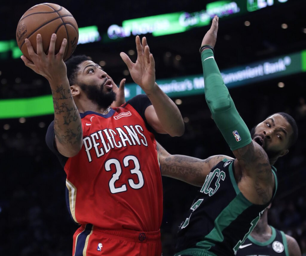 Though many NBA experts view Boston as a possible destination for New Orleans Pelicans star Anthony Davis now that he has requested a trade, the Celtics can't trade for him until Kyrie Irving either re-signs or leaves for another team.