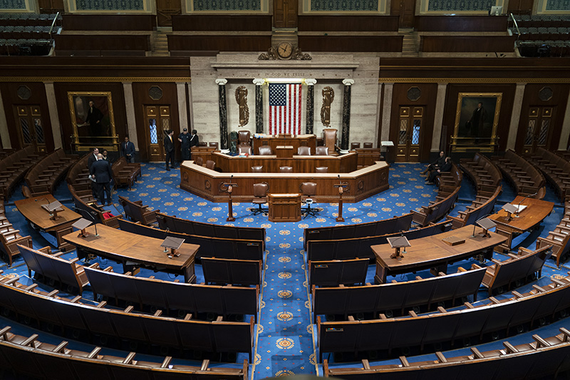 The chamber of the House of Representatives before convening for the first day of the 116th Congress with Democrats holding the majority on Jan. 3.