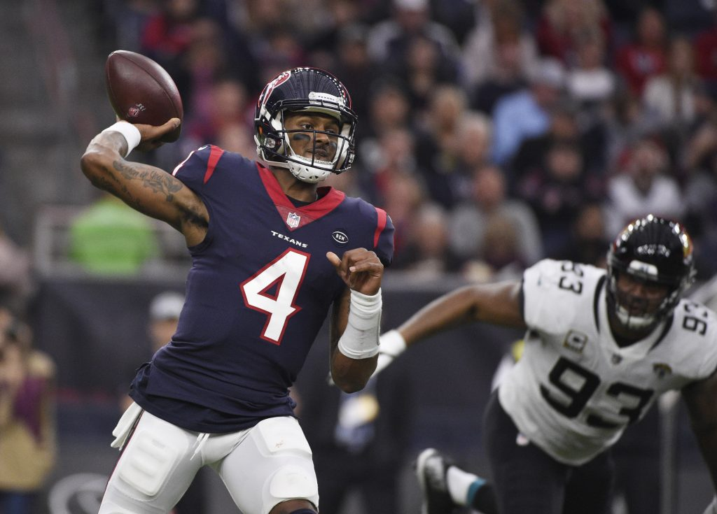 Deshaun Watson and the Houston Texans will take on the Indianapolis Colts in the wildcard round on Saturday.