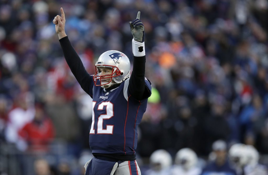 The New England Patriots won the coin toss, took the ball, and started a dominant offensive performance. Quarterback Tom Brady completed 33 of 44 passes for 343 yards and a touchdown as the Patriots beat the Chargers 41-28 to advance to their eighth straight AFC title game.