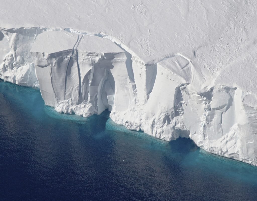 This 2016 photo provided by NASA shows the Getz Ice Shelf from 2016's Operation Icebridge in Antarctica. According to a new study published Monday, Jan. 14, 2019, in Proceedings of the National Academy of Sciences, Antarctica is melting more than six times faster than it did in the 1980s.