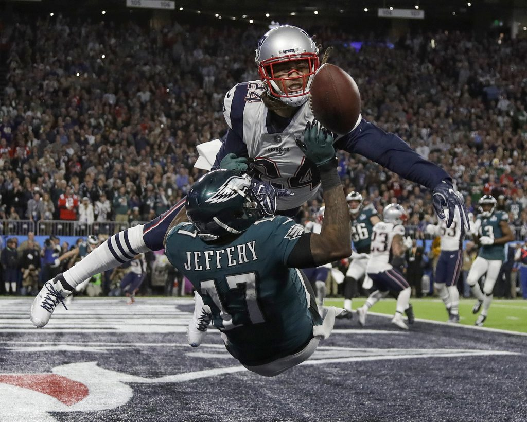 Stephon Gilmore, in his second season with New England, has shown the talent that made him such a prized signing a year ago.