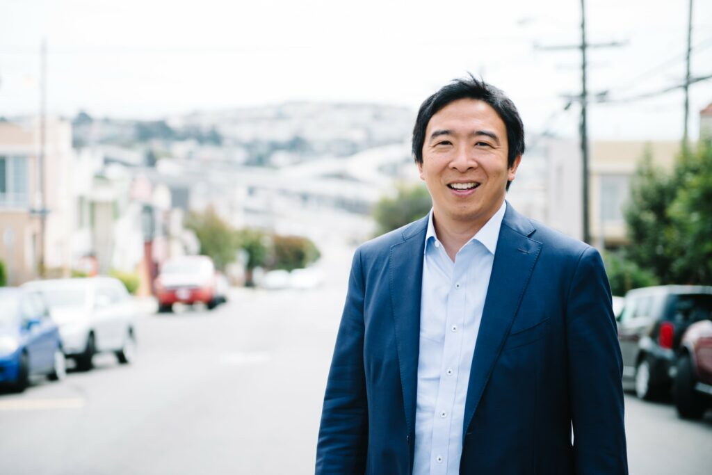 Entrepreneur Andrew Yang is a Democratic candidate for president.