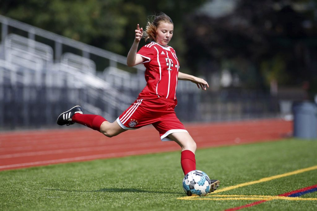 Bridget Davis, an 8th grader at Scarborough Middle School plays with her club team, GPS Maine.