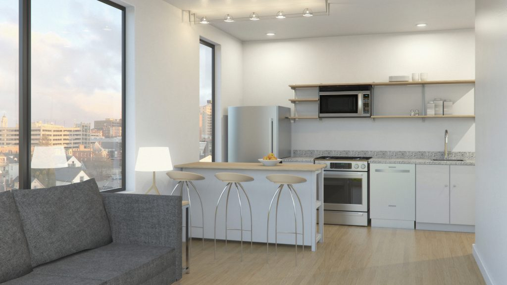 A rendering of a Parris Terraces interior.