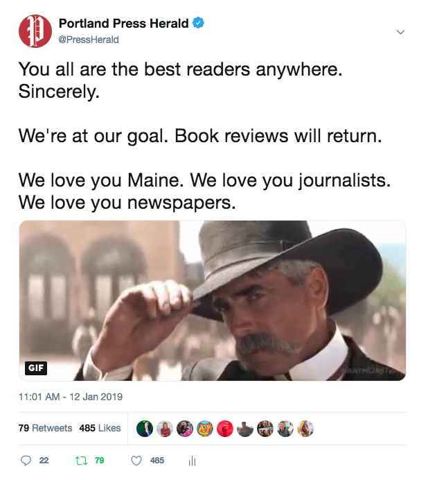 After tweet from Stephen King, readers respond to Press Herald pitch