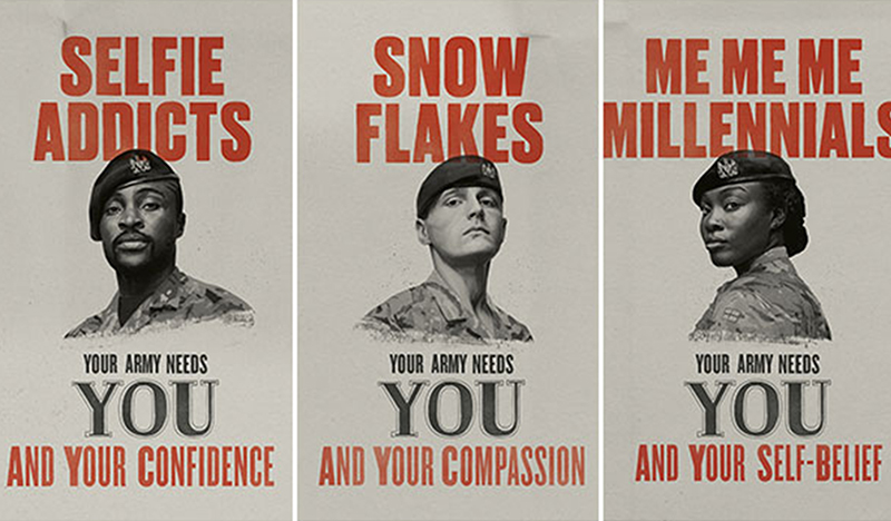 British Army recruiting posters.