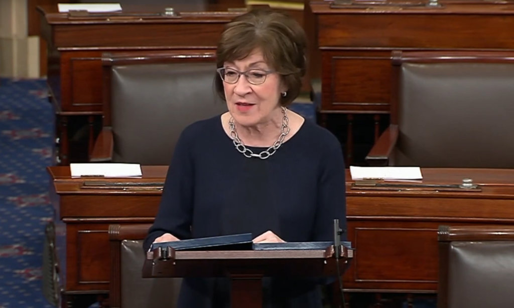 U.S. Sen. Susan Collins of Maine introduced legislation Monday on the floor of the Senate to protect taxpayers. Her bill proposes that the IRS give personal PIN numbers to taxpayers aimed at ensuring tax refunds go to taxpayers and not to criminals using stolen identification information. The move would save taxpayers billions of dollars every year, Collins said.