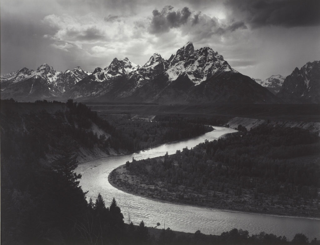"""The Tetons and Snake River, Grand Teton National Park, Wyoming,"" Ansel Adams, gelatin silver print, 1942."
