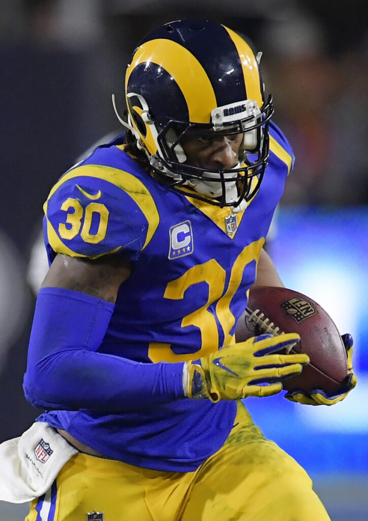 Los Angeles Rams running back Todd Gurley was hardly a factor in the NFC championship game against the Saints, but says he's healthy and ready to face the Patriots in the Super Bowl on Sunday.