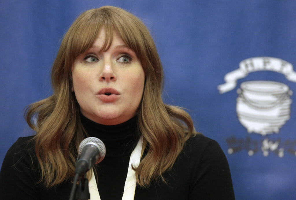 Bryce Dallas Howard attends the Woman of the Year presentation Thursday at Harvard.
