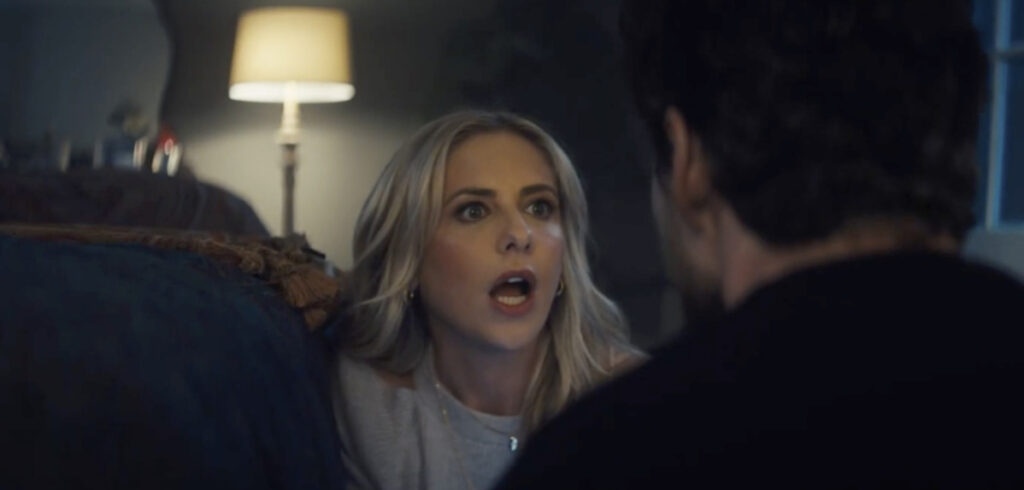This video screen grab shows actress Sarah Michelle Gellar in a horror-movie parody for Olay.