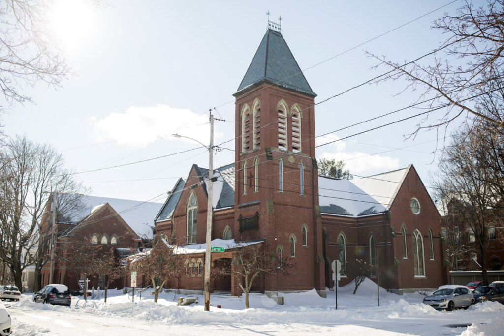 A foreclosure auction for the former Williston West Church at 32 Thomas St. in Portland's West End is on hold.