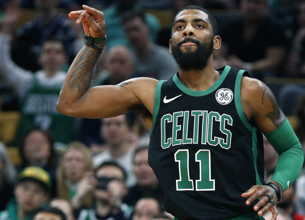 09dc2d5ef22 Kyrie Irving is putting up the type of numbers not seen in Boston since  Larry Bird