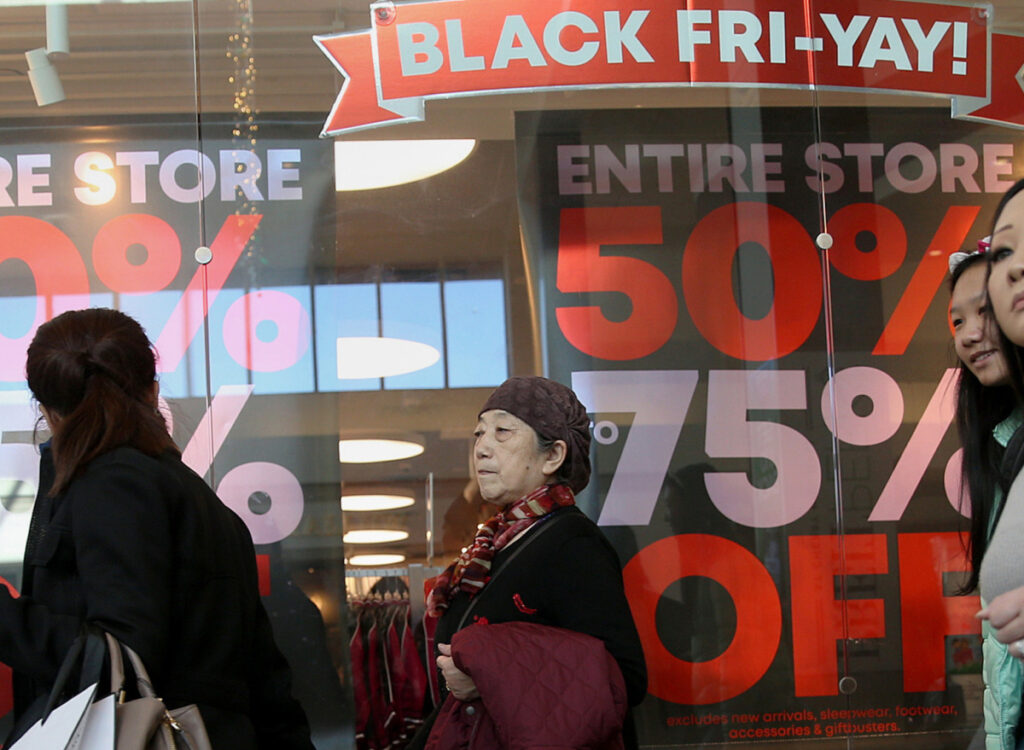 """Shoppers turned out in force on Black Friday last November at Cherry Hill Mall in New Jersey, but a more recent survey of retailers suggests many stores are stuck in """"survival mode."""""""