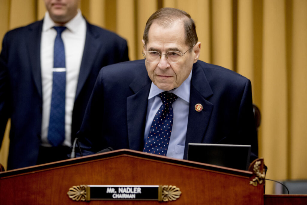 "Judiciary Committee Chairman Jerrold Nadler, D-N.Y., said to Acting Atorney General Matthew Whitaker, ""You decided that your private interest in overseeing this particular investigation – and perhaps others from which you should have been recused – was more important than the integrity of the department. The question that this committee must now ask is: Why?"""
