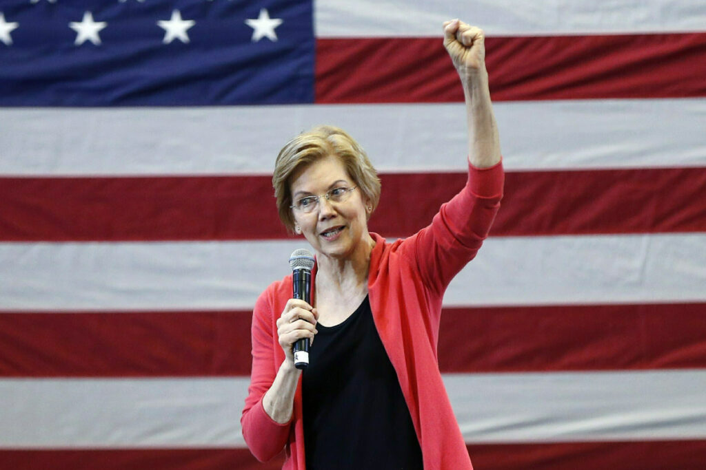 Sen. Elizabeth Warren, D-Mass., speaks during an organizing event at Manchester Community College in Manchester, N.H. Warren formally launched her presidential bid on Saturday with a populist call to fight economic inequality.
