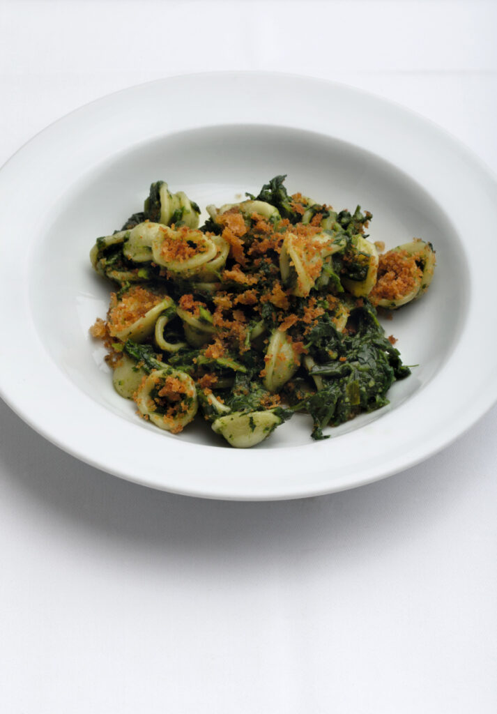 Orecchiette with Broccoli Rabe, Anchovy and Pangrattato